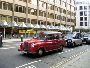 red london taxi