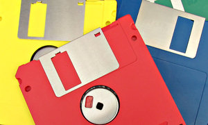 outdated: outdated floppy storage disks