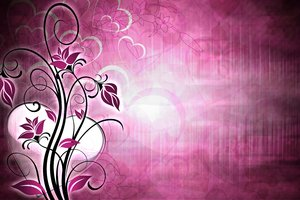 Valentines Floral Background 2: Valentine's Day Background with Floral and with the phrase