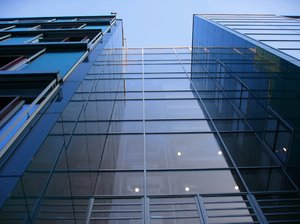 tall modern glass architecture