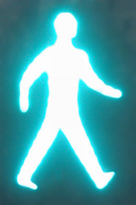 abstract pedestrian walk figur