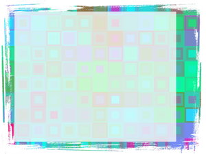 Cheerful Grungy Banner 3: A cheerful and eyecatching grunge banner with a rough edge and a pattern of squares in various colours. Plenty of copyspace to write your message.