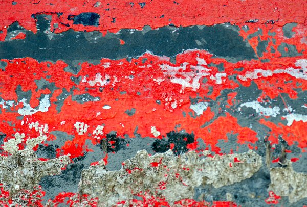 Weathered wall: peeled paint texture
