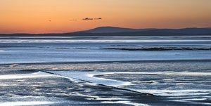 Lakeland fells: shot from heysham head looking towards the fells