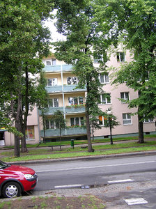 Blocks of flats: An classic blocks of flats in Poland. Here - Tomaszow Mazowiecki.