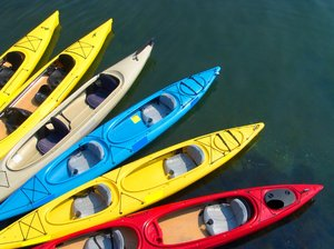 Kayaks ready for their riders