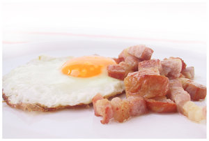bacon & eggs: tasty breakfast