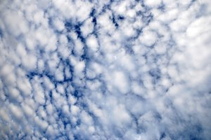 little fluffy clouds: in the sky