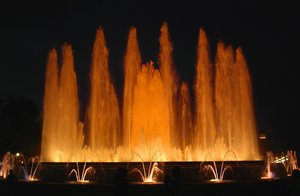 magic fountain 3: the magic fountain in barcelona by night