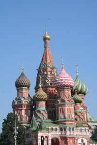 Moscow: The greatest city of Moscow in Russia. The St. Basil´s Cathedral, the St. Maria´s Cathedral, The Moskva River...