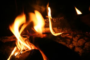 flames: fired up logs. perfect for winter!