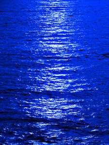 blue moon ocean reflection