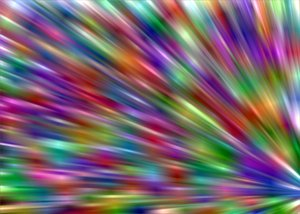 Flare 12: Multi-coloured flare suitable for backgrounds, fills,textures, or to illustrate states of mind, science fiction, time warps, speed, etc.