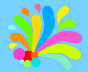Splash 2: A playful, colourful splash of colours. You may prefer:   http://www.rgbstock.com/photo/mTAjcZy/Splash+1 or: