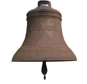 Bell: An old steel bell.