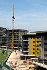highrise construction: Australian highrise construction building site