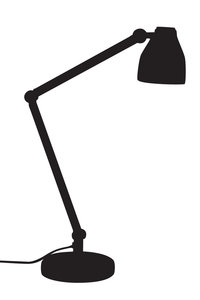 Silhouette Office Lamp: you are working late and you need a light