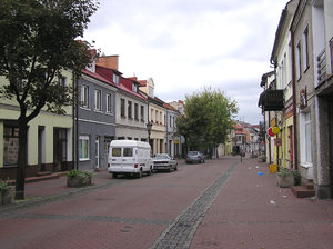 Colorful houses: A colorful street in Łowicz.