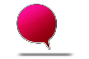 Text balloon red round