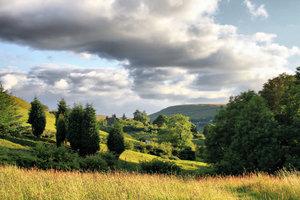 Desktop <b>Wallpaper</b> of a Golden Sunset on Yorkshire <b>Moors</b>