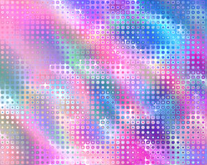 Retro Background Pink and Blue