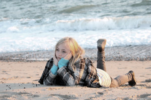 The sea: The sea, girl, beach, sand, water