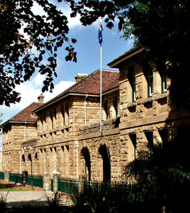 historic law building: Australian sunlit historic law building