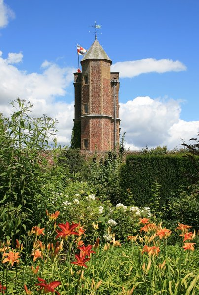 Tower and gardens: The tower and gardens at Sissinghurst Castle, an Elizabethan manor house in Kent, England. Photography at this National Trust property was freely permitted.