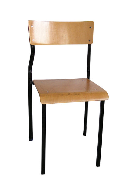 Chair: A school chair.