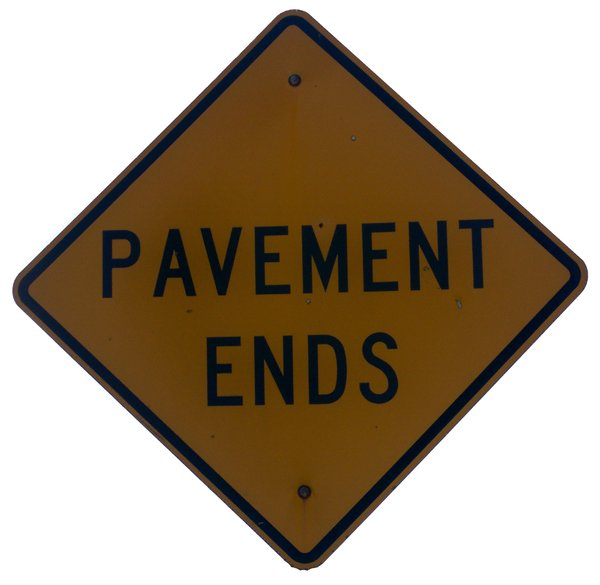 Pavement Ends