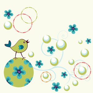 Bird with circles