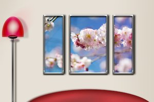Wall with blossom frame