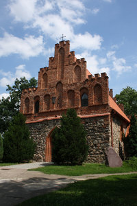 Church: Old church in Bierzglowo village in Poland