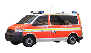 German Ambulance: An ambulance from Dusseldorf.