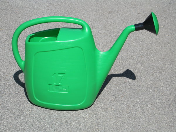green watering can: none