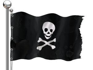 Pirates flag: A kind of a flag of pirates