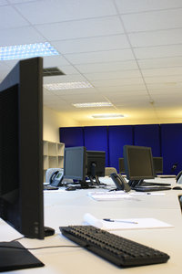 Empty Office: Empty Office with computer terminals