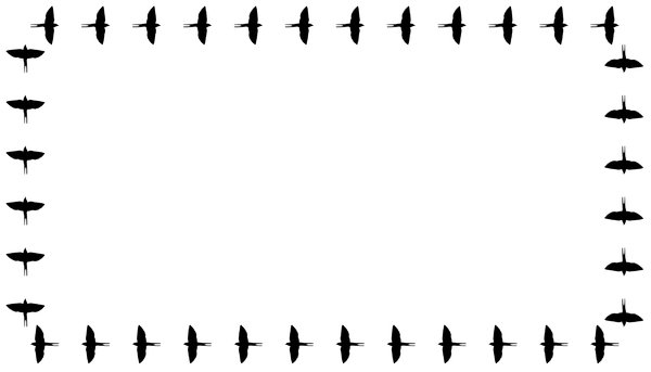Border Swallows Straight: two versions of swallows flying around your letters