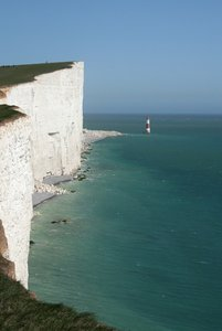 Beachy Head: The chalk cliff of Beachy Head, East Sussex, England.