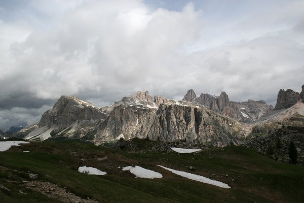 Mountain scene: The Dolomite mountains, Italy.