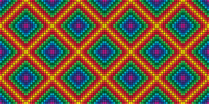 large pattern rainbow
