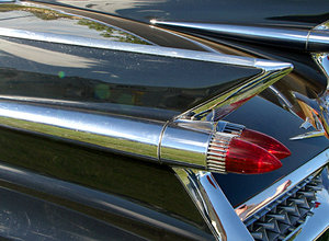 fins and things: rear quater of 1959 cadillac the most iconic auto design of all time