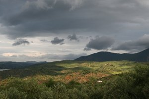 Andalucia landscape: A stormy landscape in Andalucia, Spain.