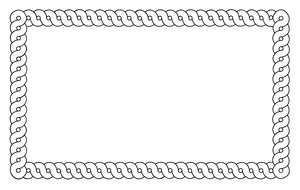 Border Twisted Rope: a border to decorate your documents with