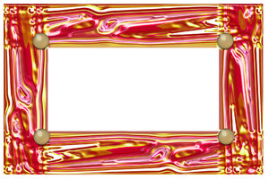 Yellow and pink shiny border