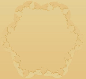 Beige Butterfly Frame: A pale beige gradient butterfly frame or border. Would make a nice card, banner or picture frame.