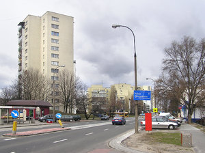 Urban Landscape: A typical suburban landscape in Warsaw.
