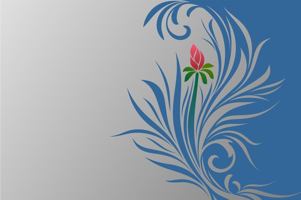 Birth Flower: Vector flower and leaves