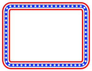 Stars And Stripes Color Border