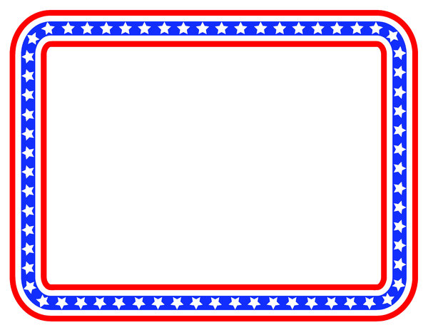 Stars And Stripes Color Border: Colorful Border For The 4th!